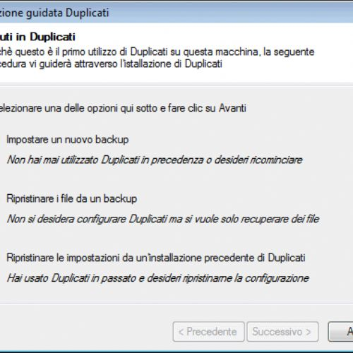 Backup su cloud e server FTP con Duplicati