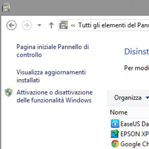 Come disinstallare Internet Explorer in Windows 8.1