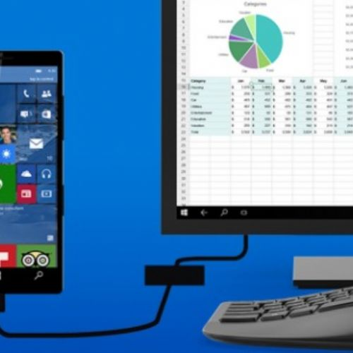 Smartphone Windows 10 si trasformano in PC desktop