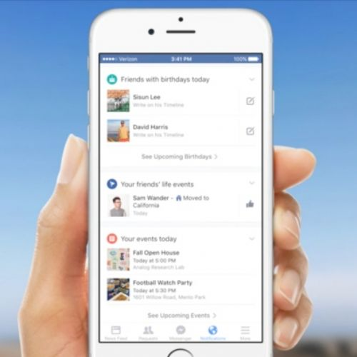 Facebook guarda a Google Now con le nuove notifiche