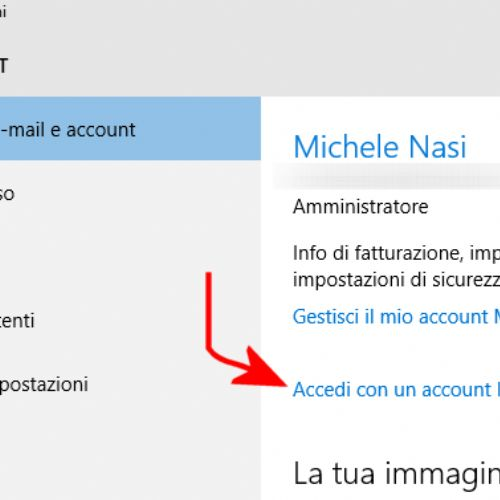 Passare da account Microsoft a account locale in Windows 10