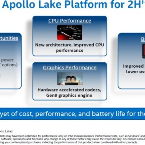 Intel presenta Apollo Lake, per i nuovi PC low cost