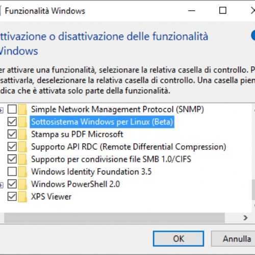 Installare e usare la bash Linux in Windows 10