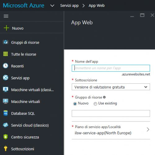 Realizzare una app per dispositivi mobili con Azure. Mobile apps, logic apps e API apps