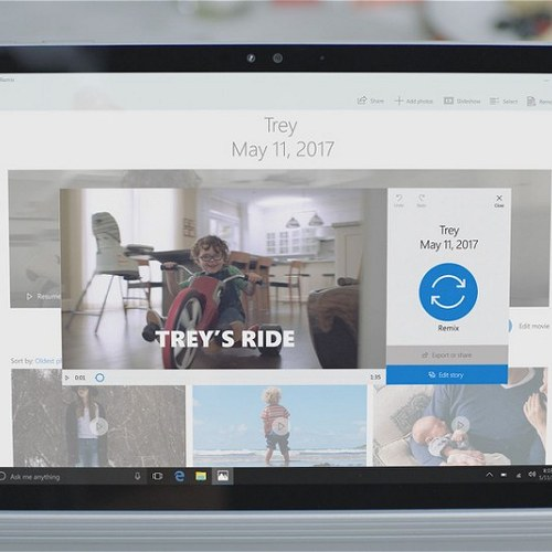 Story Remix, il successore di Movie Maker debutterà in Windows 10 Fall Creators Update