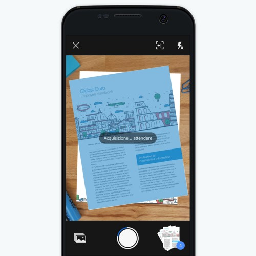 Scansione di un documento dallo smartphone con Adobe Scan