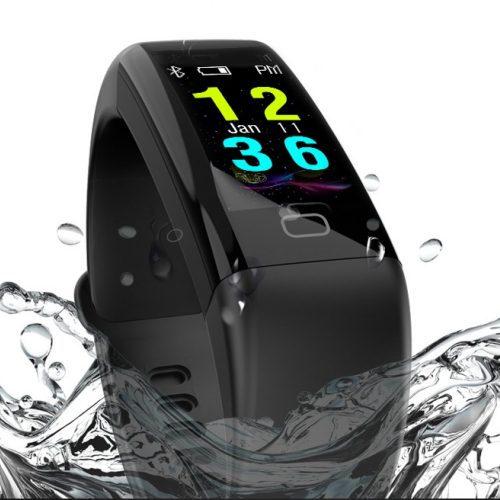 Braccialetto per il fitness resistente all'immersione in acqua, con display a colori, in offerta a 19 euro
