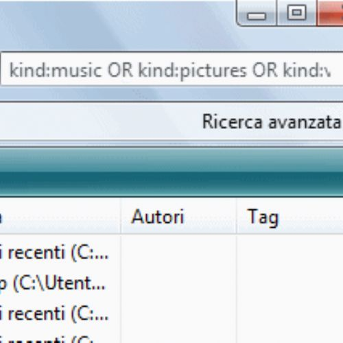 Windows Vista: Cercare immagini, musica e video