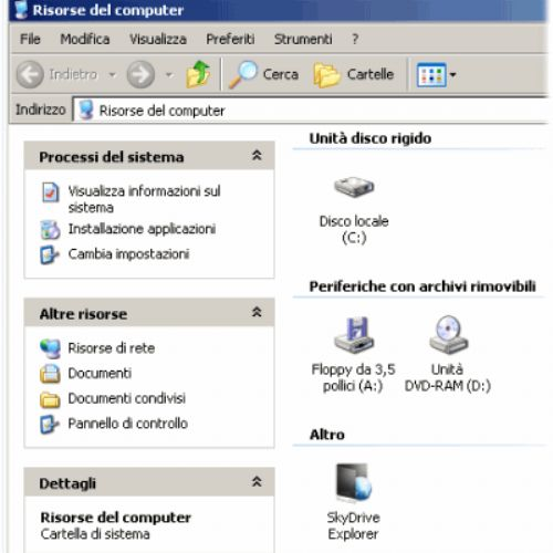 Gestire il disco virtuale SkyDrive dall'interfaccia di Windows