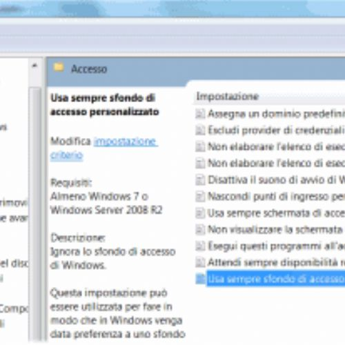 Personalizzare la schermata di logon di Windows 7